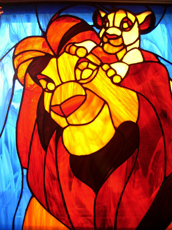 Lion King Stained Glass By Pheawolf On Deviantart