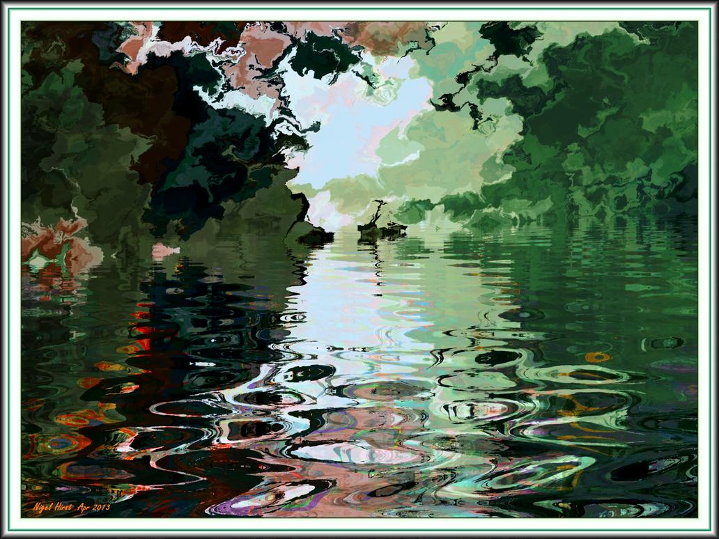Broadditch Pond Remembered by Nigel-Hirst