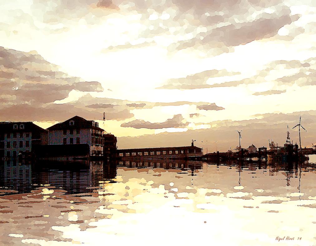 Gravesend Pier - August Sunset by Nigel-Hirst
