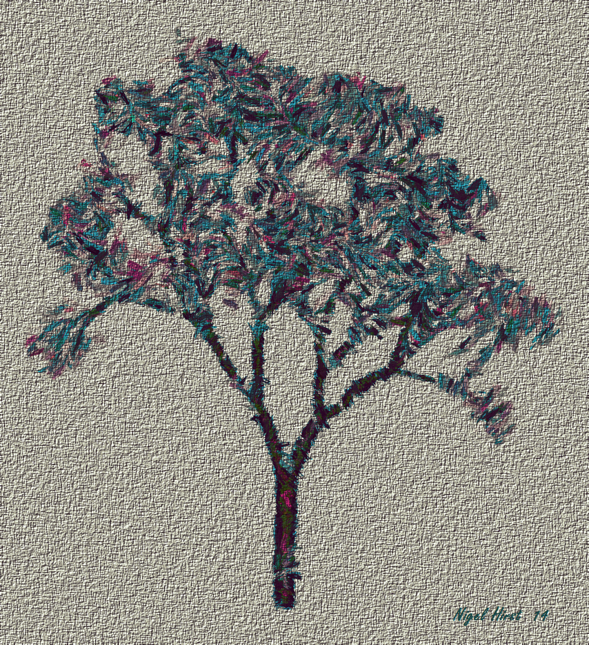 A Needle Point Fractal Tree by Nigel-Hirst