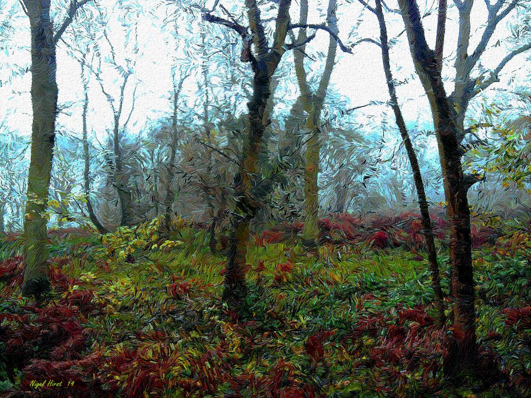 Cobham Woods In November by Nigel-Hirst