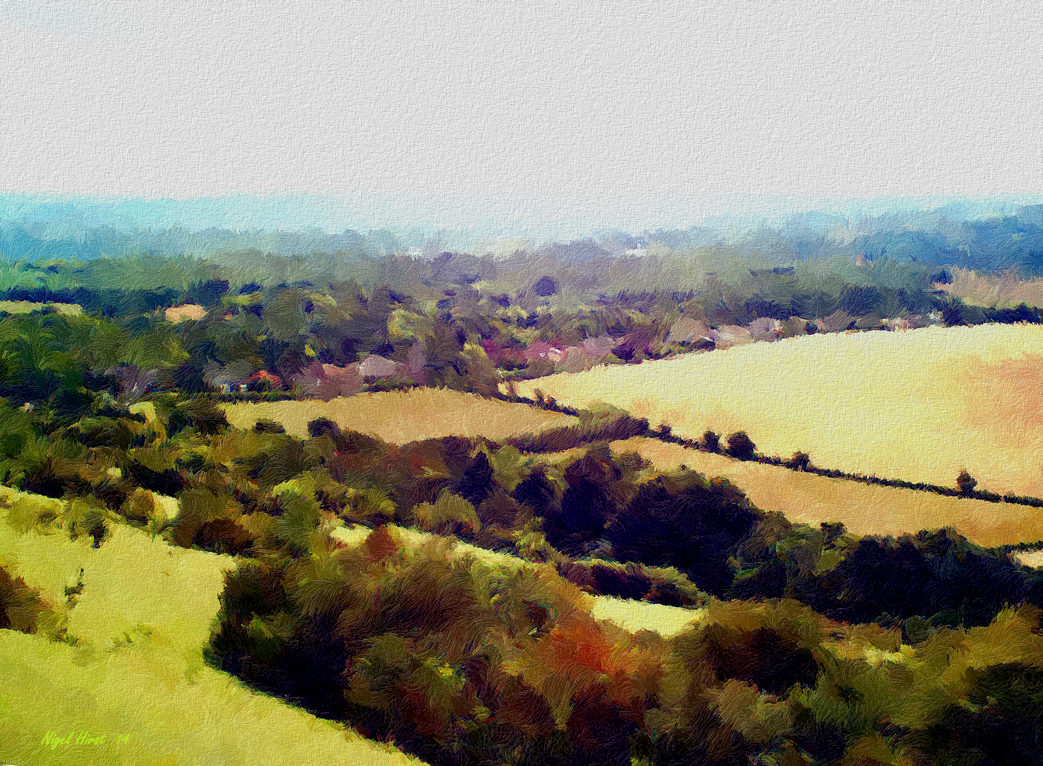 Summer View from the North Downs in Trosley Park by Nigel-Hirst