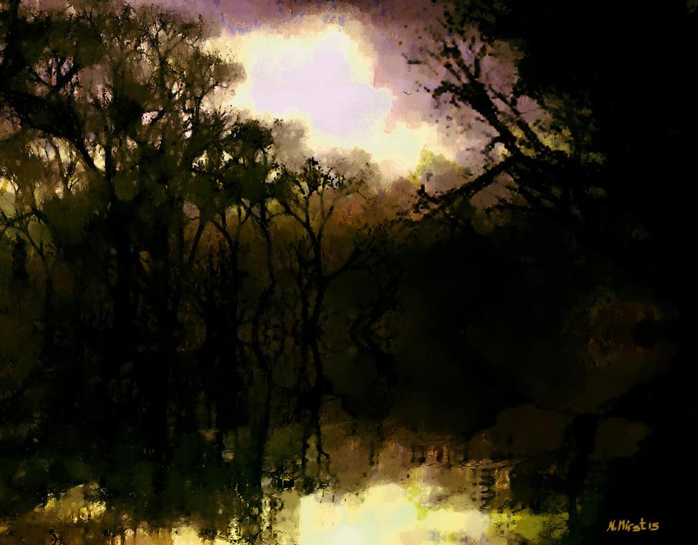 Woodland Fire by Nigel-Hirst