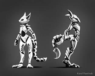 Robot Squirrel Concept 03 by KP-ShadowSquirrel