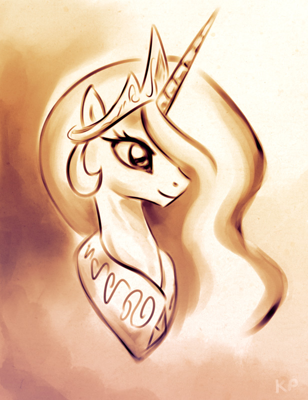 Celestia Portrait by KP-ShadowSquirrel