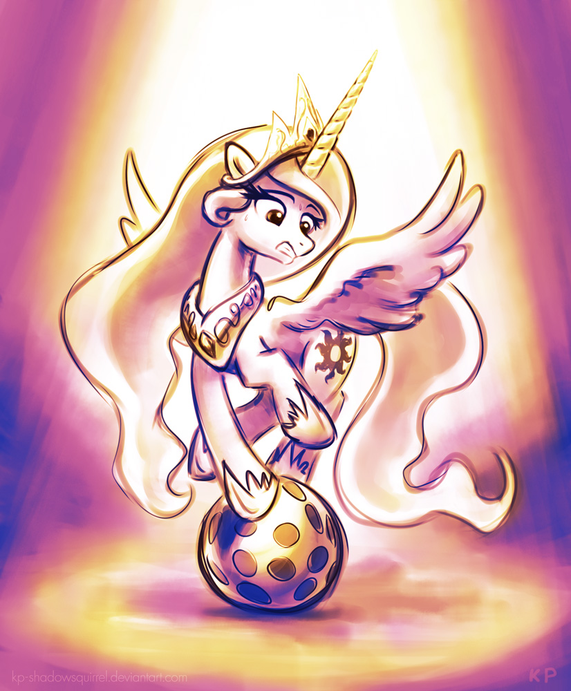 Celestia x Ball by KP-ShadowSquirrel