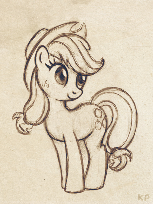 Applejack sketch by KP-ShadowSquirrel