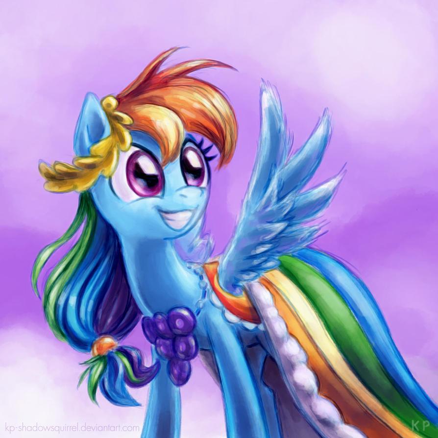 Rainbow Dash Gala Portrait by KP-ShadowSquirrel