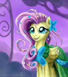 Fluttershy Gala Portrait by KP-ShadowSquirrel