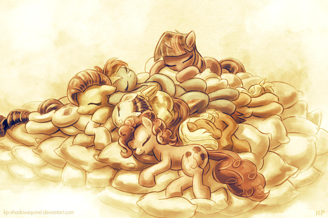 Pony Pillow Pile by KP-ShadowSquirrel