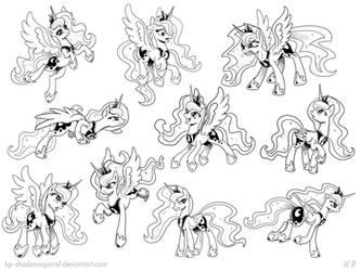 Luna Poses by KP-ShadowSquirrel