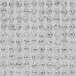 Super Speedy Spike Portraits by KP-ShadowSquirrel