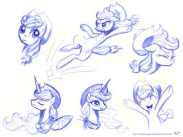 Applejack Sketches 2