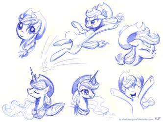 Applejack Sketches 2 by KP-ShadowSquirrel