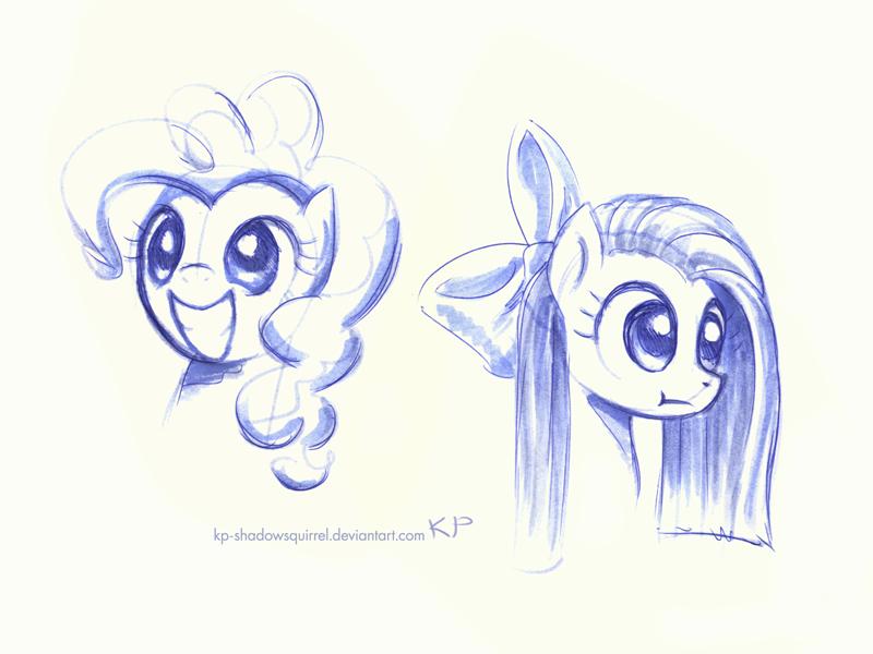 Pinkie Pie Sketches by KP-ShadowSquirrel