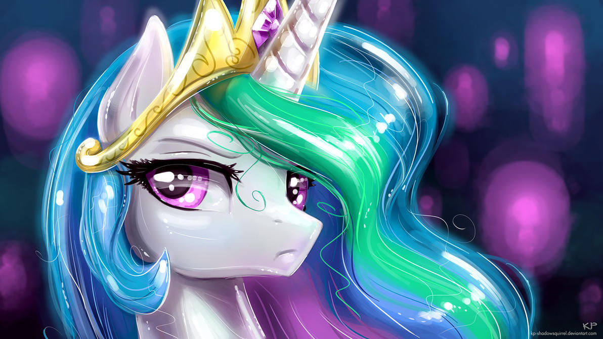 Celestia Portrait 2 by KP-ShadowSquirrel