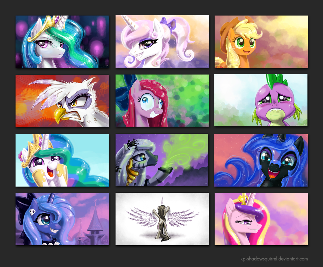 MLP:FIM Portrait Wallpapers 2 by KP-ShadowSquirrel