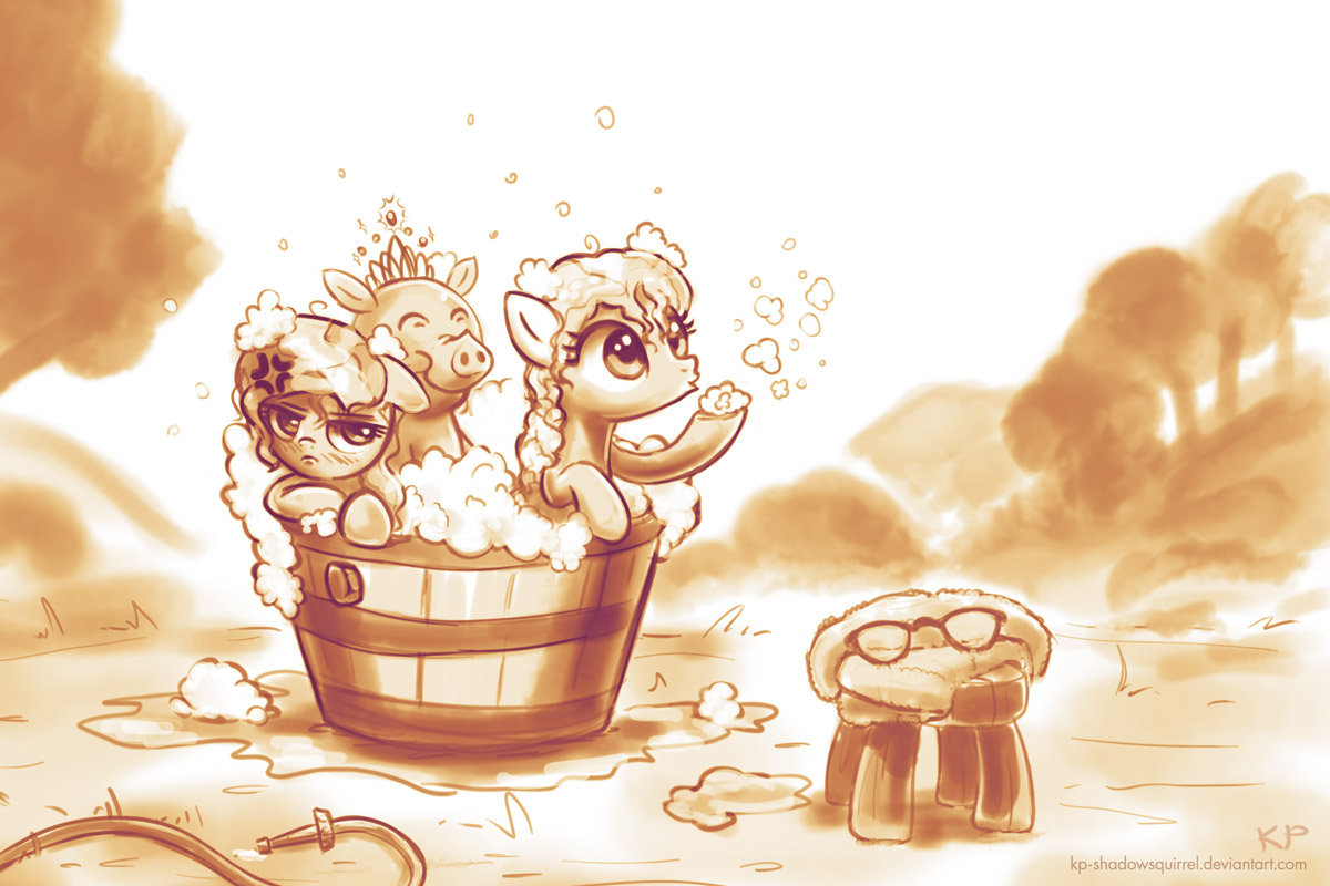 Bubble Bath by KP-ShadowSquirrel