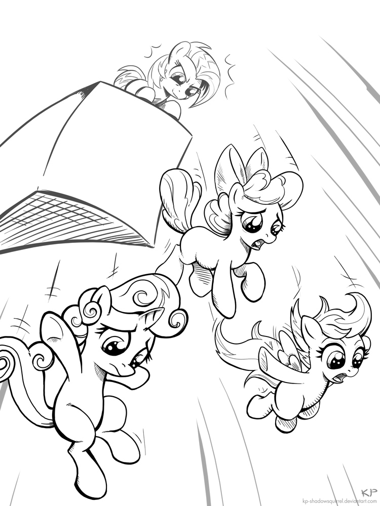 Leap Of Faith (lineart) by KP-ShadowSquirrel