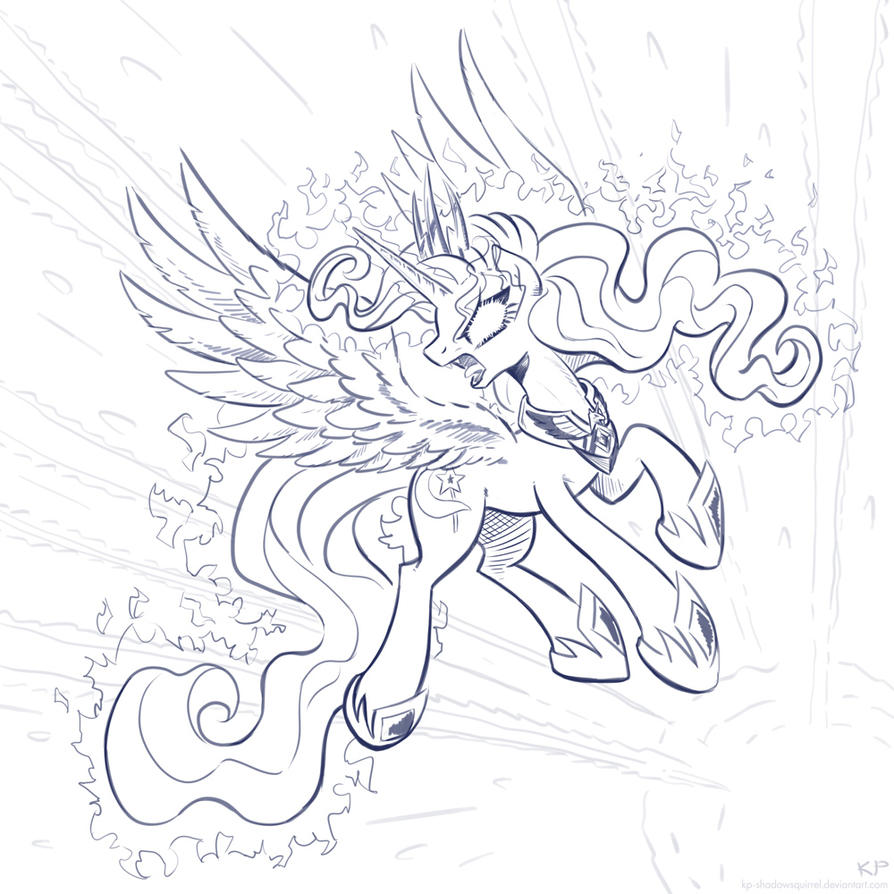 The Majestic And All-Powerful TRIXIE (lineart) by KP-ShadowSquirrel