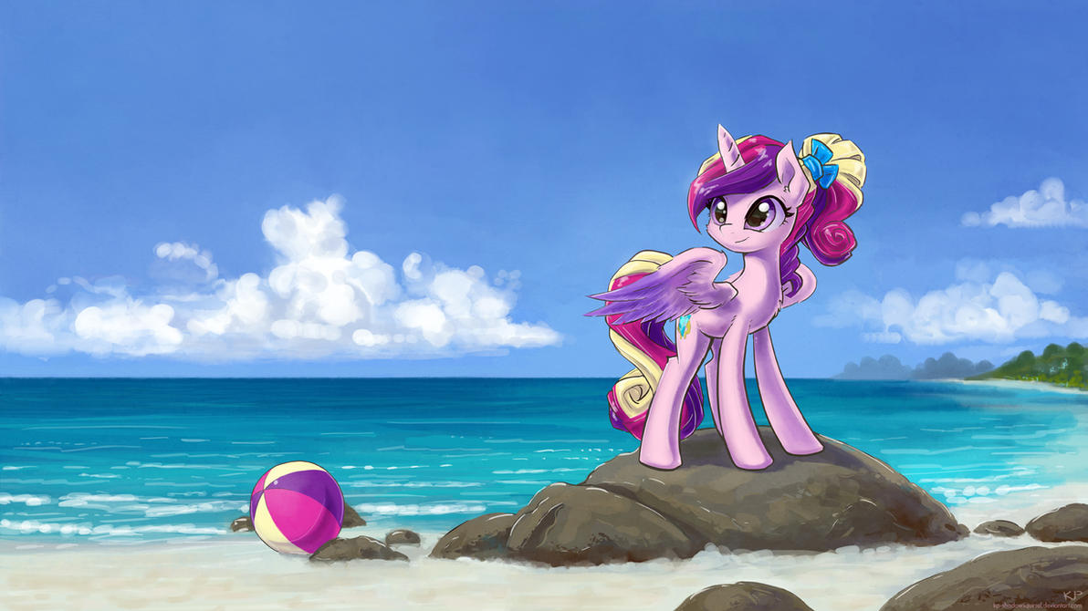Young Cadance At The Beach by KP-ShadowSquirrel