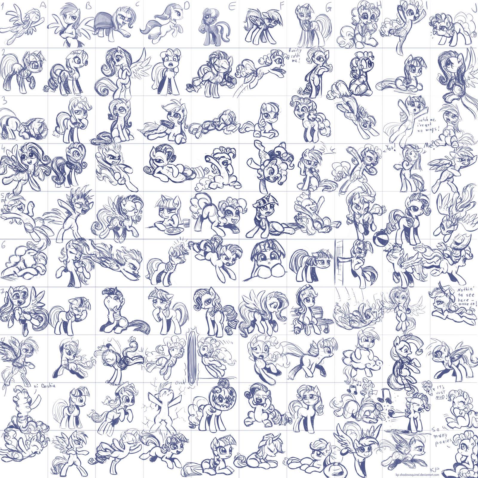 Super Speedy Pony Sketches by KP-ShadowSquirrel