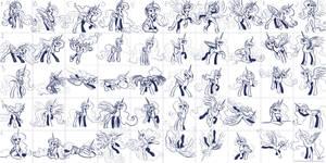 Super Speedy Celestia Sketches