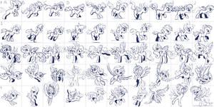 Super Speedy Pony Sketches 3