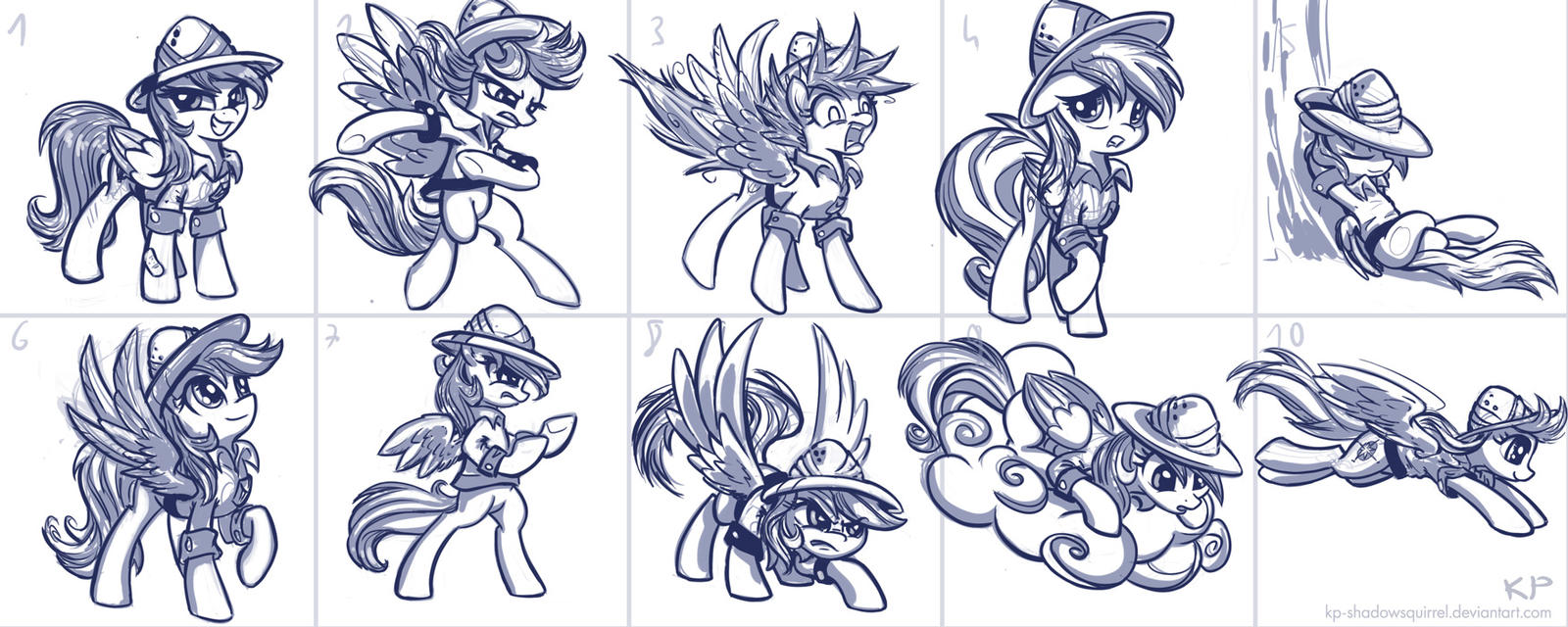 Daring Do Sketches by KP-ShadowSquirrel