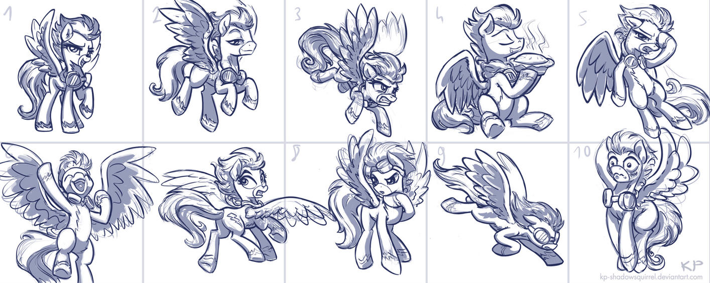 Wonderbolt Sketches by KP-ShadowSquirrel