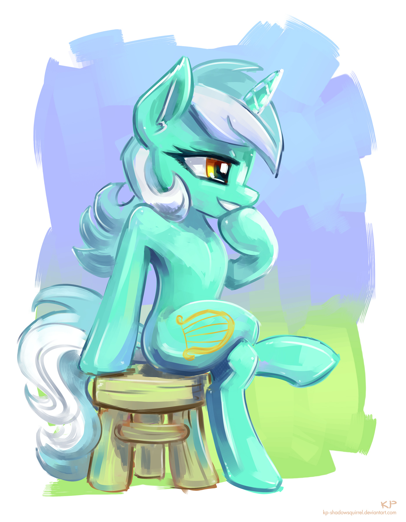 Sitting Lyra by KP-ShadowSquirrel