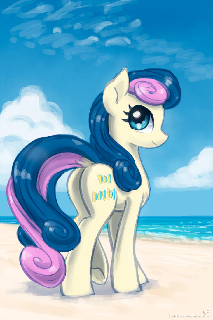 Bon Bon at the beach by KP-ShadowSquirrel