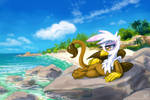Gilda at the beach