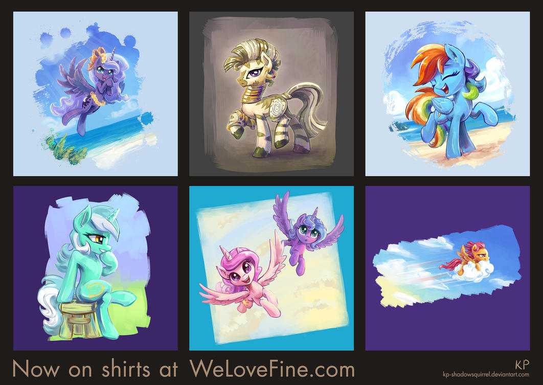 New Shirt Designs by KP-ShadowSquirrel