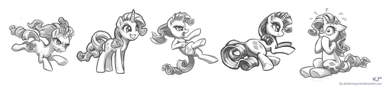 Rarity Sketches #2 by KP-ShadowSquirrel