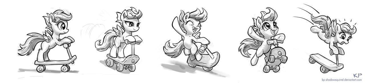 Scootaloo Sketches #1 by KP-ShadowSquirrel