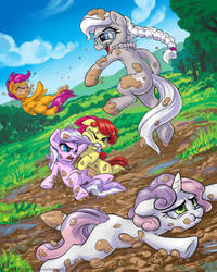 Mud-Fight by KP-ShadowSquirrel