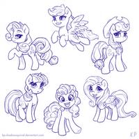 Those Cute Ponies by KP-ShadowSquirrel