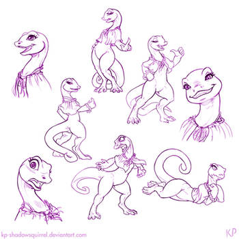 Crusch Lulu Sketches 2 by KP-ShadowSquirrel