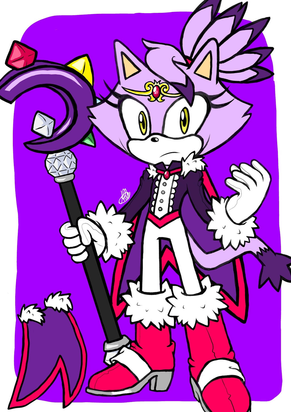 Redesign blaze the cat by mrs ally pie on deviantart for Immagini di blaze