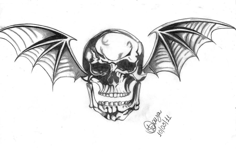 Skull avenged sevenfold by zinha chan