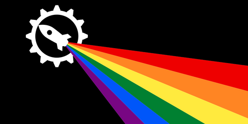 Flag of Fully Automated Luxury Gay Space Communism by Wolf-ODonnell