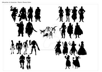Silhouettes of characters - Beatriz Moreno Rubio