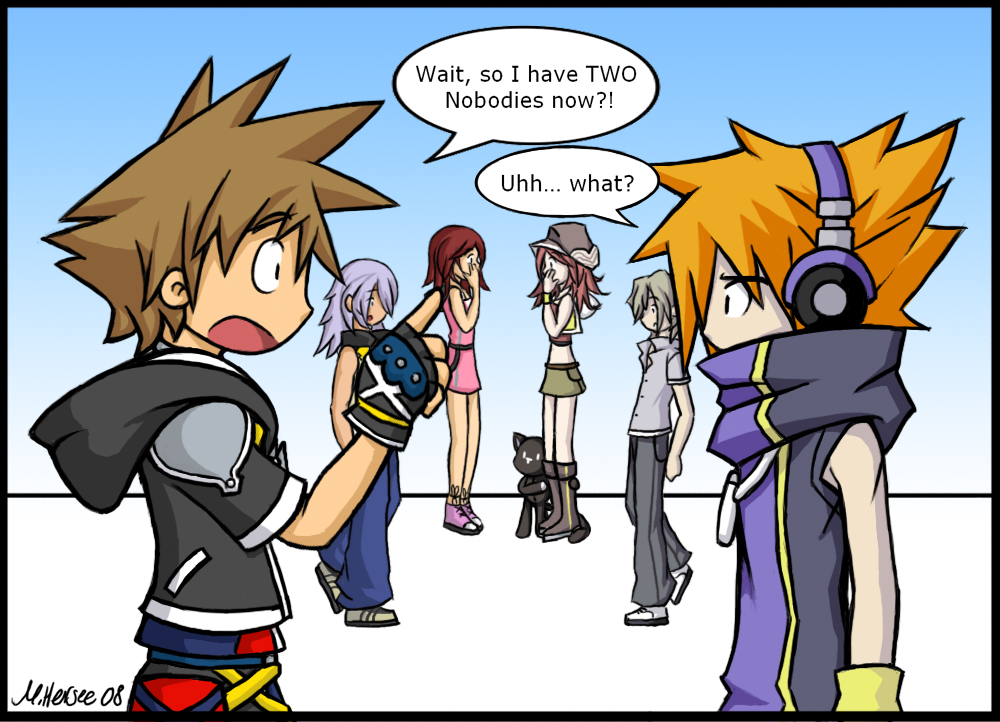 Crossover Pics - Page 3 KH2_TWEWY___Nobodies_Buisness_by_LightningGuy