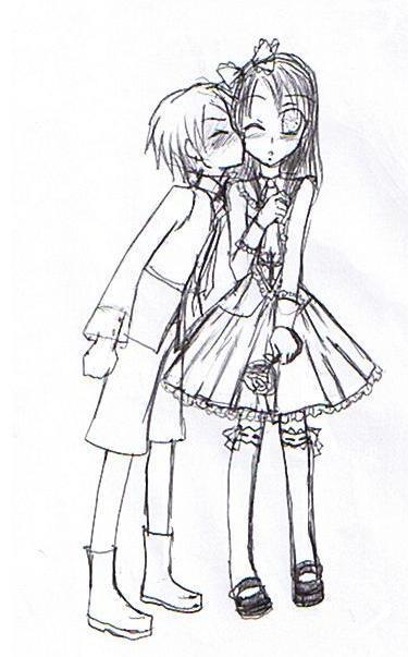anime boy and girl by Rukia21love on DeviantArt