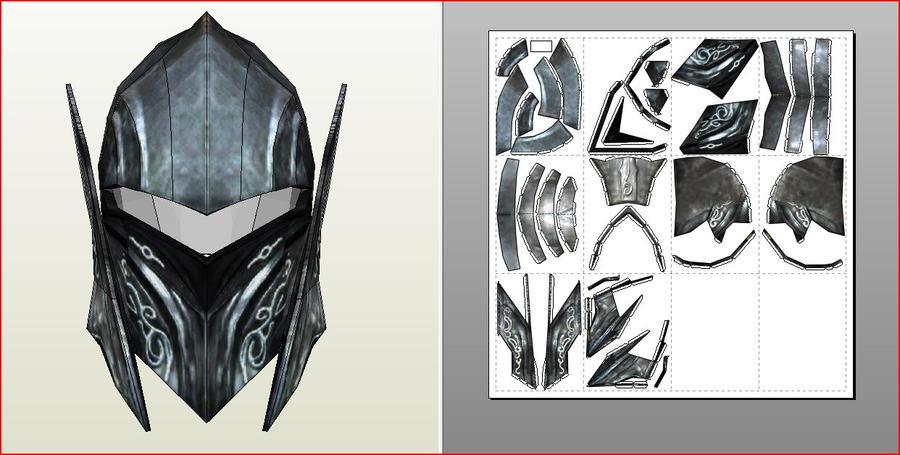Skyrim Ebony Helm by hsholderiii