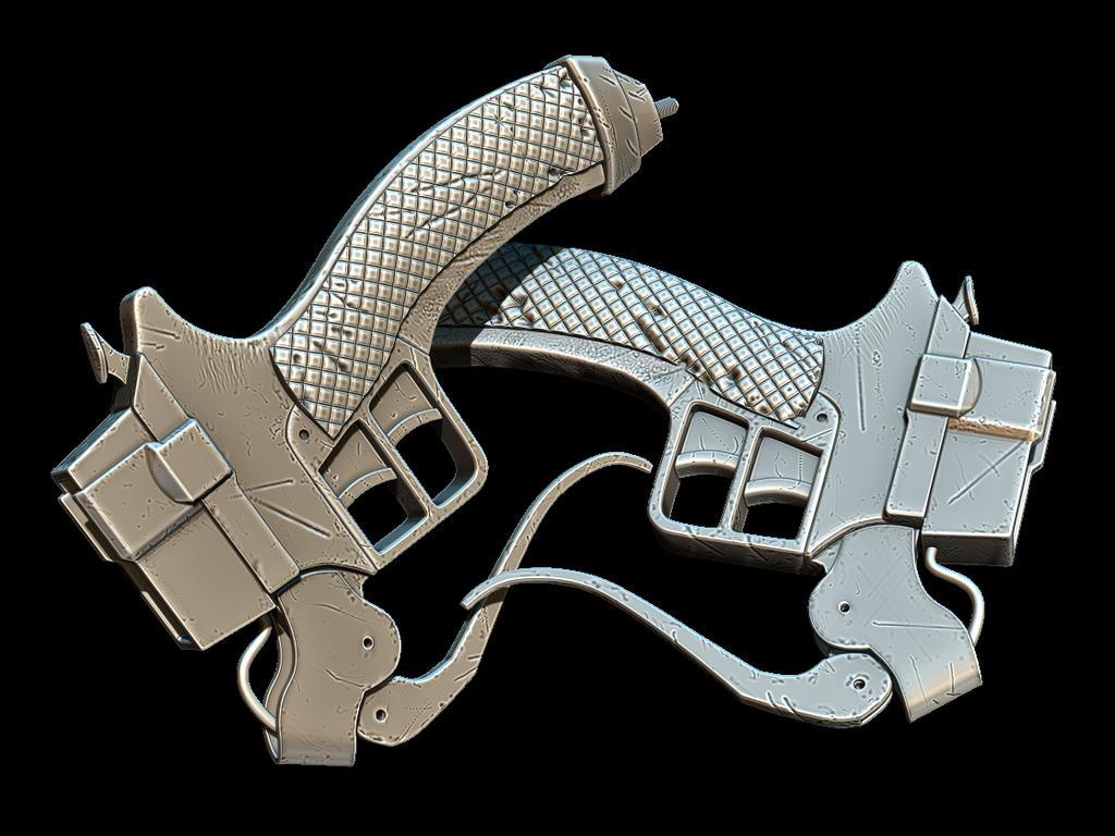 3D Maneuver Sword Hilt - Shingeki no Kyojin by hsholderiii