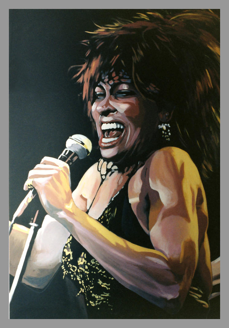 Tina Turner Mural Mainstreets by Frittz