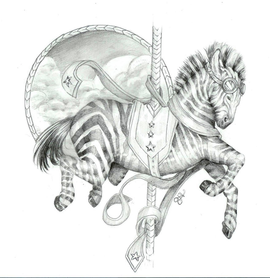 coloring pages of carousel zebra - photo#26