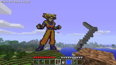 Super Saiyan Goku Statue